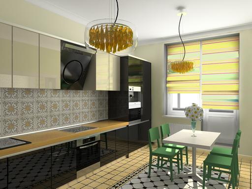 Гостиная кухня галерея проекта 3d